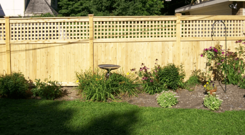 Tongue and groove Fence